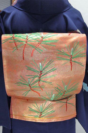 袋帯 古金赤朽葉色