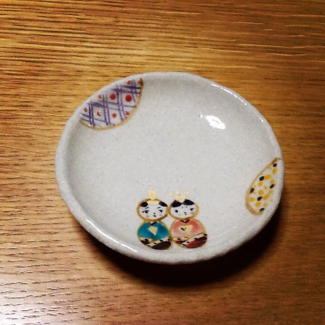 ひな人形小皿