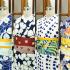 【浴衣】白地と紺地の浴衣がおすすめ!レトロ柄な浴衣コーディネート12選!